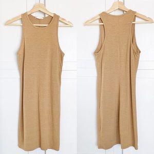 Forever 21 Dresses - ⚫️5/$20 F21 nude tan sleeveless bodycon dress